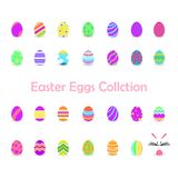 Illustration of easter eggs collection for easter day. Can use for graphic resource stock illustration