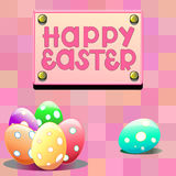 Illustration with easter eggs Royalty Free Stock Photos
