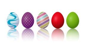 Easter eggs on a white background. Illustration of Easter eggs on a white background Stock Images