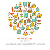 Illustration Easter with your text Stock Photo