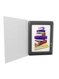 Illustration of ebook. Reader device Stock Photo
