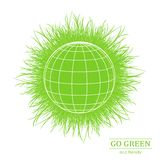 Illustration of eco friendly footprints Stock Photography