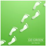 Illustration of eco friendly footprints Royalty Free Stock Photography