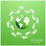 Illustration of eco friendly footprints Stock Photos