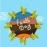 Illustration of an eco-friendly green earth design Royalty Free Stock Photos
