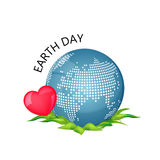 Illustration of an eco-friendly green earth design isolated on a white background. Stock Photo