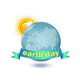 Illustration of an eco-friendly green earth design isolated on a white background. Stock Photography