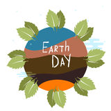 Illustration of an eco-friendly green earth design  on a white background. Stock Photos