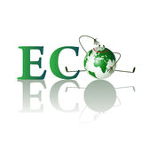 Illustration of eco text Royalty Free Stock Images