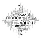 Illustration with economic terms Royalty Free Stock Image