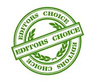 Editors Choice stamp. Illustration of Editors Choice stamp in green ink Stock Photos