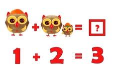 Illustration of Education Mathematics for Preschool Children Stock Image