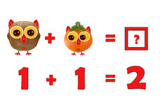 Illustration of Education Mathematics for Preschool Children Royalty Free Stock Photo