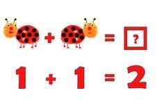 Illustration of Education Mathematics for Preschool Children Royalty Free Stock Images