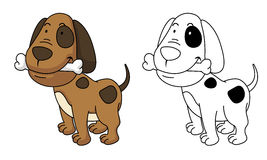 Illustration of educational coloring book-dog