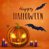 Illustration effrayante de Halloween Photographie stock libre de droits
