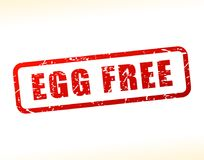 Egg free text buffered Royalty Free Stock Photos
