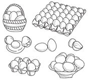Illustration of eggs Stock Images