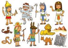Illustration of egypt child cartoon character. Stock Photography