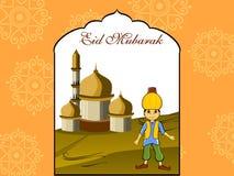 Illustration for eid mubarak. Vector wallpaper for eid celebration Stock Image
