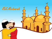 Illustration for eid mubarak Stock Image