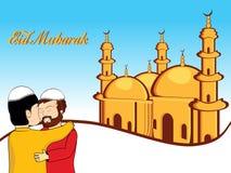 Illustration for eid mubarak. Vector illustration for eid mubarak celebration vector illustration