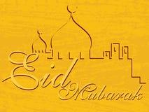 Illustration for eid mubarak. Eid mubarak greeting card, vector illustration Royalty Free Illustration