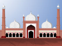 Illustration for eid mubarak. Vector illustartion of jama masjid Vector Illustration