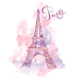 Illustration with Eiffel tower Royalty Free Stock Image