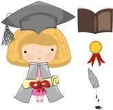 Illustration - ein Diplom und eine Staffelung Lizenzfreie Stockfotografie