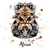 Illustration einer afrikanischen Maske stock abbildung