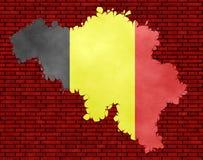 Illustration einer belgischen Flagge vektor abbildung