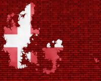 Illustration einer dänischen Flagge vektor abbildung