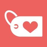 Illustration einer Herzikone mit einem Einkaufsaufkleber Stockfotografie