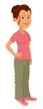Illustration einer netten Frau Stockbilder