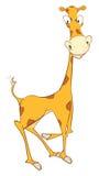 Illustration einer netten Giraffe Hundekopf mit einem netten glücklichen und unverschämten Lächeln getrennt auf einem weißen Hint Lizenzfreie Stockbilder