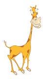 Illustration einer netten Giraffe Hundekopf mit einem netten glücklichen und unverschämten Lächeln getrennt auf einem weißen Hint Lizenzfreies Stockbild