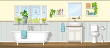 Illustration eines Badezimmers stockfoto