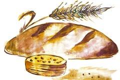 Illustration eines Brotlaibs Stockbild
