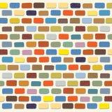 Illustration eines bunten Ziegelstein-Wand-Hintergrundes stock abbildung
