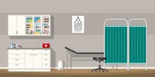 Illustration eines Doktorbüros Stockfoto