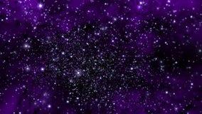 Illustration eines erfundenen Sternfeldes, der Nebelflecke, der Sonne und des galaxi Lizenzfreies Stockbild