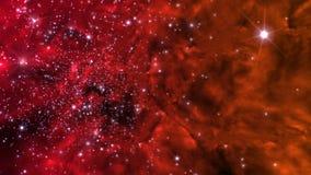 Illustration eines erfundenen Sternfeldes, der Nebelflecke, der Sonne und des galaxi Lizenzfreies Stockfoto