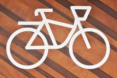 Illustration eines Fahrrades für das Parken stockfoto
