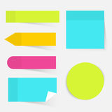 Illustration eines Farbsatzes der klebrigen Anmerkungen Flaches Design moder Lizenzfreie Stockfotos