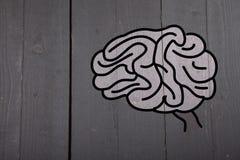 Illustration eines Gehirns Stockbild