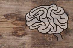 Illustration eines Gehirns Lizenzfreie Stockbilder