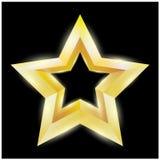Illustration eines Goldsternes auf schwarzem Hintergrund Vektordatei ENV 10 eingeschlossen stock abbildung