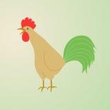 Illustration eines Hahnkrähens Lizenzfreie Stockfotos