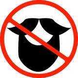 Illustration eines lokalisierten verbotenen Signals mit einem Schnurrbart stock abbildung